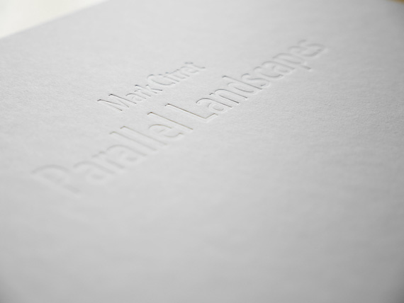 embossed title book Parallel Landscapes, Mark Citret