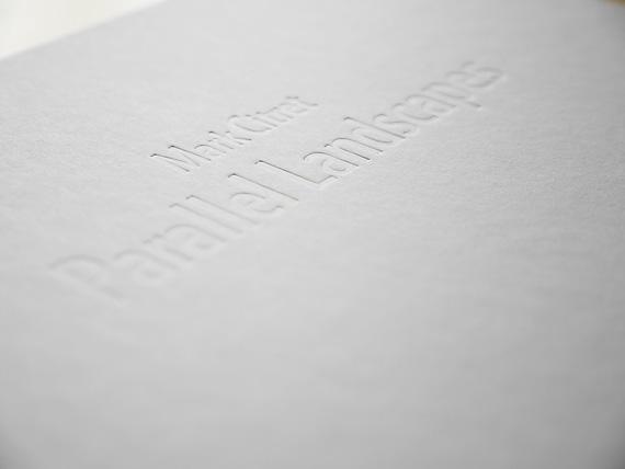 embossed title book Parallel Landscapes, Mark Citret